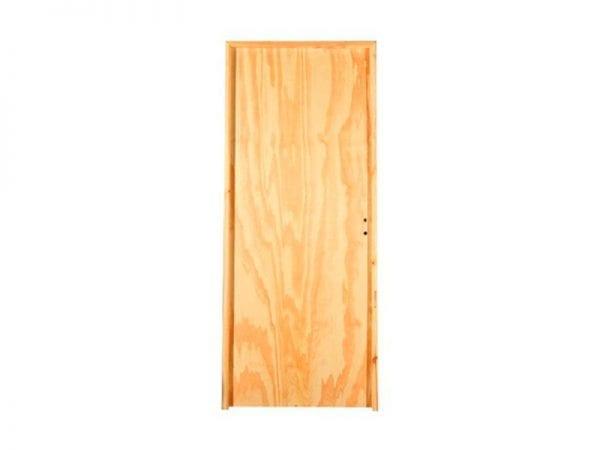 puerta marco de madera